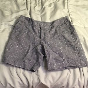 Polka dot chambray shorts